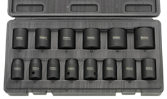 Power socket sets for impact power wrenches
