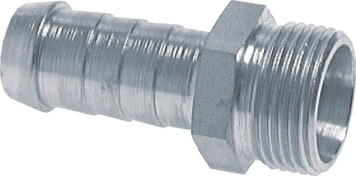 male thread hose nipple 24° cone (cutting ring fittings), ISO 8434-1