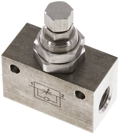 "one-way flow control, G 1/4"",Stainless steel (Eco) (DR 14 ES E)"