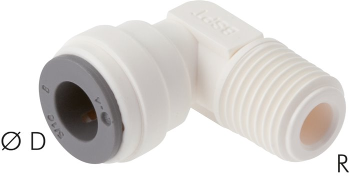 L-push in fittings, LE (metric)