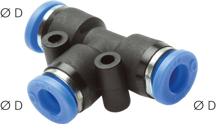 T-push-in connectors, Inch