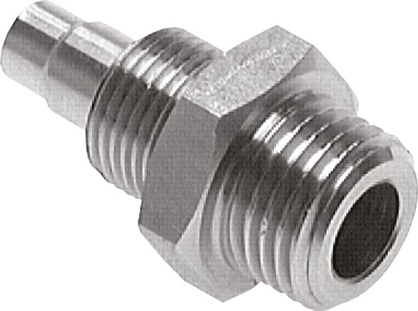 Straight screw connections with cylindrical thread