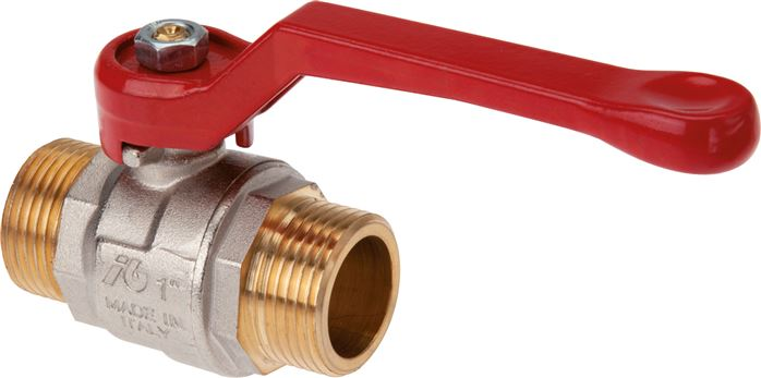 Ball valves with male thread, 2-piece, full bore, up to 40 bar