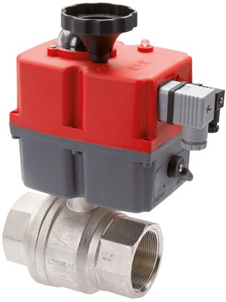 Ball valves with electric rotary actuators (industrial version), up to 40 bar