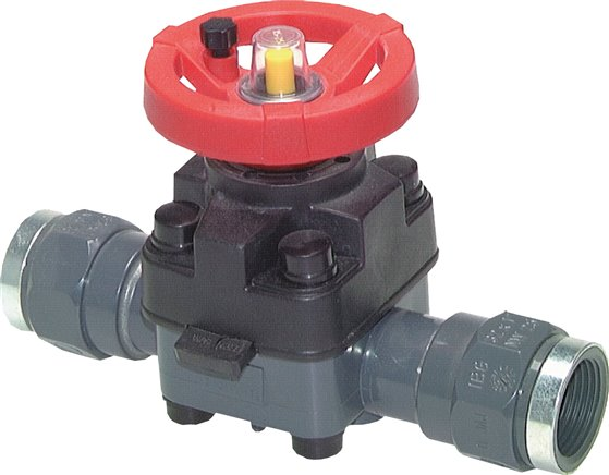 Manual diaphragm valves, PN 10