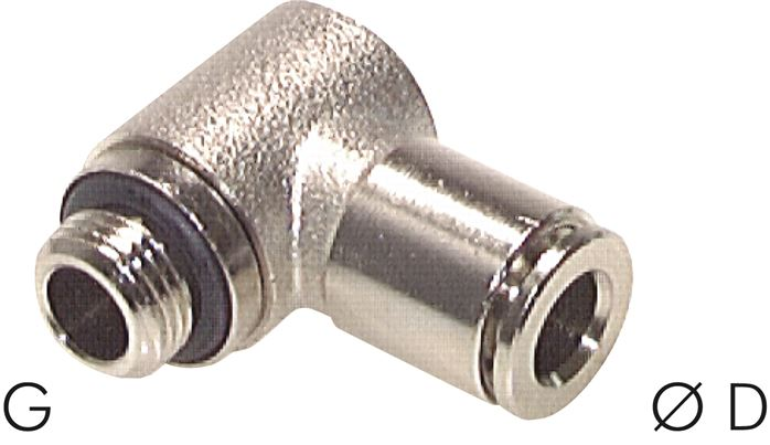Elbow push-in fittings, compact (adjustable), model series C