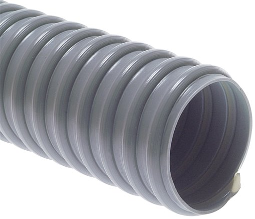Lighter suction hose, PVC-superflex grey, 80mm (VU 80 FLEX)